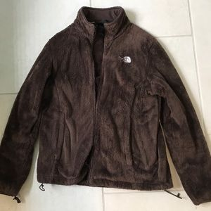 North Face Ladies brown fleece Large